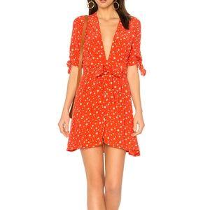 Faithfull the Brand Red Birgit Dress Small NWT$149